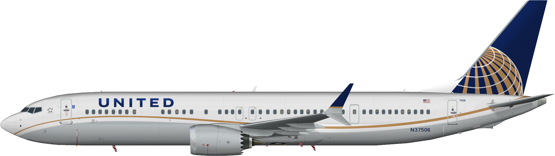 United Airlines Boeing 737 MAX 9 – KYLE'S AI WORKS
